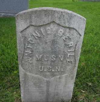 BERILE, ANTONIO - Anne Arundel County, Maryland | ANTONIO BERILE - Maryland Gravestone Photos