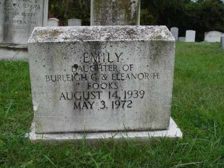 FOOKS, EMILY - Anne Arundel County, Maryland | EMILY FOOKS - Maryland Gravestone Photos