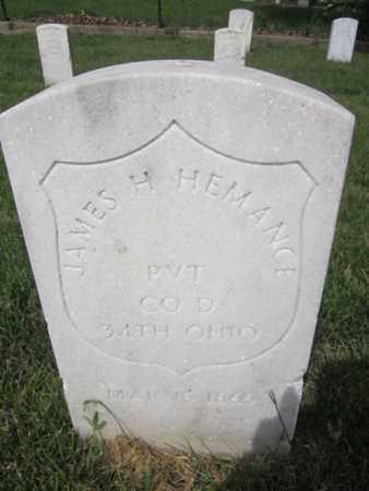 HEMANCE (HERNANCE) (CW), JAMES H. - Anne Arundel County, Maryland | JAMES H. HEMANCE (HERNANCE) (CW) - Maryland Gravestone Photos
