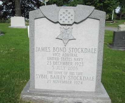 STOCKDALE (MOH), JAMES BOND - Anne Arundel County, Maryland | JAMES BOND STOCKDALE (MOH) - Maryland Gravestone Photos