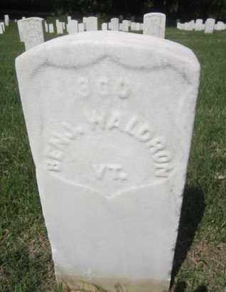 WALDRON (CW), BENJAMIN - Anne Arundel County, Maryland | BENJAMIN WALDRON (CW) - Maryland Gravestone Photos