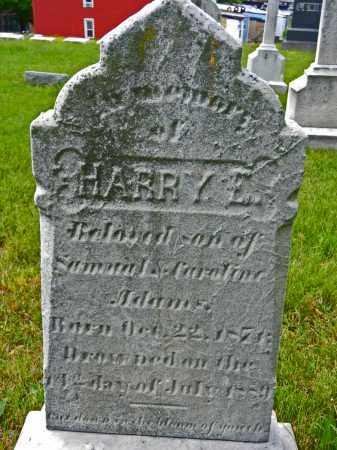 ADAMS, HARRY E. - Baltimore City County, Maryland   HARRY E. ADAMS - Maryland Gravestone Photos