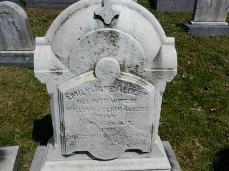 ALBERT, EMILY JANE - Baltimore City County, Maryland | EMILY JANE ALBERT - Maryland Gravestone Photos