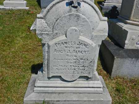 ALBERT, FRANCES JANE - Baltimore City County, Maryland | FRANCES JANE ALBERT - Maryland Gravestone Photos