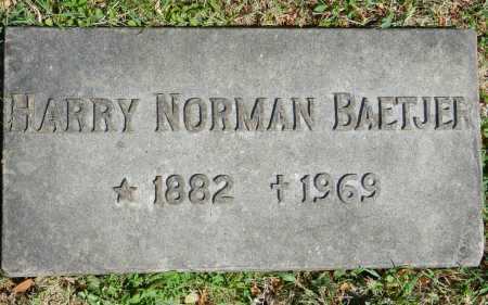 BAETJER, HARRY NORMAN - Baltimore City County, Maryland | HARRY NORMAN BAETJER - Maryland Gravestone Photos