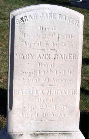 BAKER, ISABELLA M. BAKER - Baltimore City County, Maryland | ISABELLA M. BAKER BAKER - Maryland Gravestone Photos