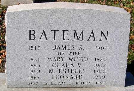 BATEMAN, LEONARD - Baltimore City County, Maryland | LEONARD BATEMAN - Maryland Gravestone Photos
