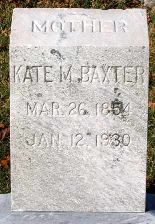 BAXTER, KATE M. - Baltimore City County, Maryland | KATE M. BAXTER - Maryland Gravestone Photos