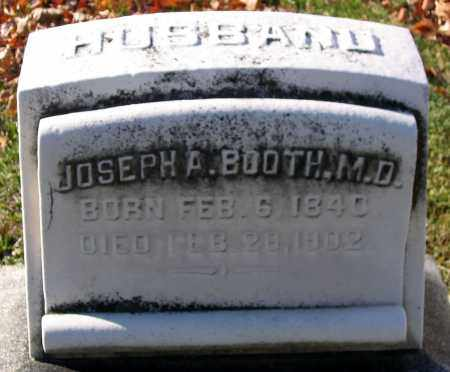 BOOTH, JOSEPH A. - Baltimore City County, Maryland | JOSEPH A. BOOTH - Maryland Gravestone Photos