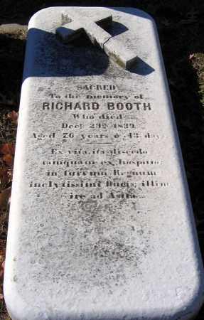 BOOTH, RICHARD - Baltimore City County, Maryland | RICHARD BOOTH - Maryland Gravestone Photos