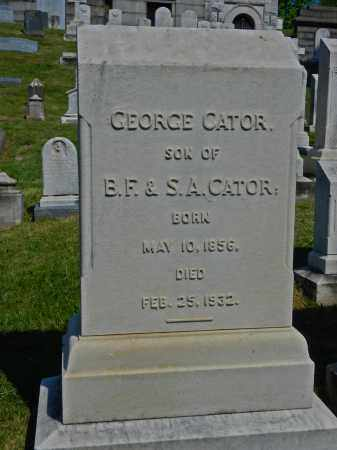 CATOR, GEORGE - Baltimore City County, Maryland | GEORGE CATOR - Maryland Gravestone Photos
