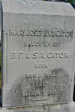 CATOR, MARY JOSEPHINE - Baltimore City County, Maryland | MARY JOSEPHINE CATOR - Maryland Gravestone Photos