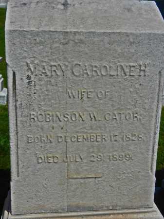 CATOR, MARY CAROLINE H. - Baltimore City County, Maryland | MARY CAROLINE H. CATOR - Maryland Gravestone Photos