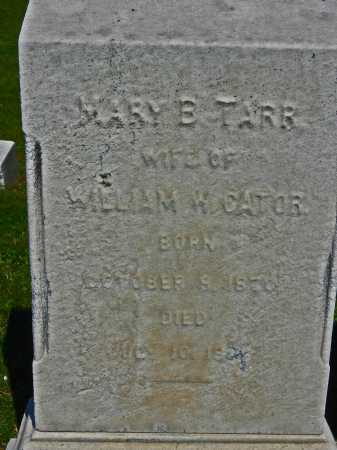 CATOR, MARY B - Baltimore City County, Maryland | MARY B CATOR - Maryland Gravestone Photos