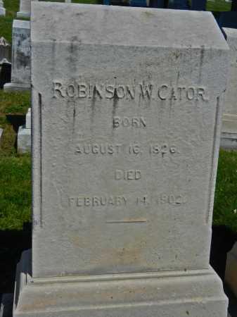 CATOR, ROBINSON W. - Baltimore City County, Maryland | ROBINSON W. CATOR - Maryland Gravestone Photos