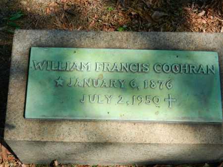 COCHRAN, WILLIAM FRANCIS - Baltimore City County, Maryland   WILLIAM FRANCIS COCHRAN - Maryland Gravestone Photos