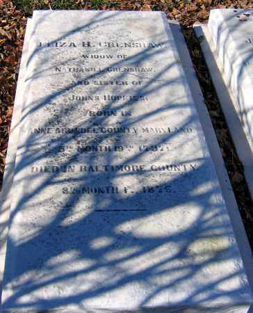 CRENSHAW, ELIZA - Baltimore City County, Maryland | ELIZA CRENSHAW - Maryland Gravestone Photos