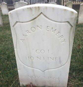 EMERY (CW-UNION), AARON - Baltimore City County, Maryland | AARON EMERY (CW-UNION) - Maryland Gravestone Photos