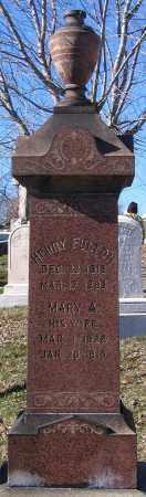 FULTON, HENRY - Baltimore City County, Maryland | HENRY FULTON - Maryland Gravestone Photos