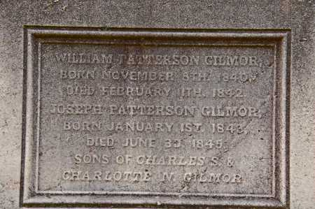 GILMOR, WILLIAM PATTERSON - Baltimore City County, Maryland | WILLIAM PATTERSON GILMOR - Maryland Gravestone Photos