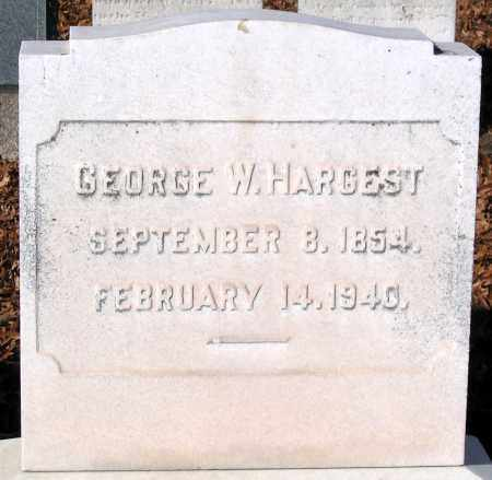 HARGEST, GEORGE W. - Baltimore City County, Maryland   GEORGE W. HARGEST - Maryland Gravestone Photos