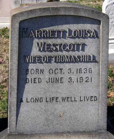 WESTCOTT HILL, HARRIETT LOUISA - Baltimore City County, Maryland | HARRIETT LOUISA WESTCOTT HILL - Maryland Gravestone Photos