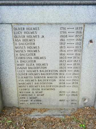HOLMES BALDERSTON, LUCY - Baltimore City County, Maryland | LUCY HOLMES BALDERSTON - Maryland Gravestone Photos