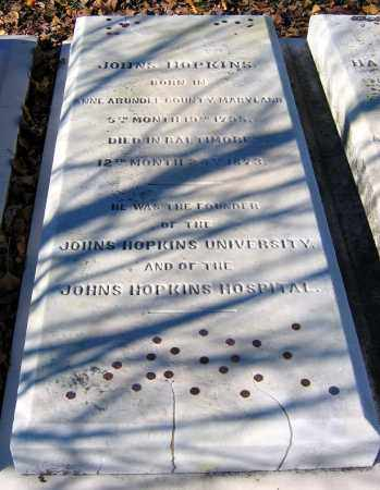 HOPKINS, JOHNS - Baltimore City County, Maryland | JOHNS HOPKINS - Maryland Gravestone Photos