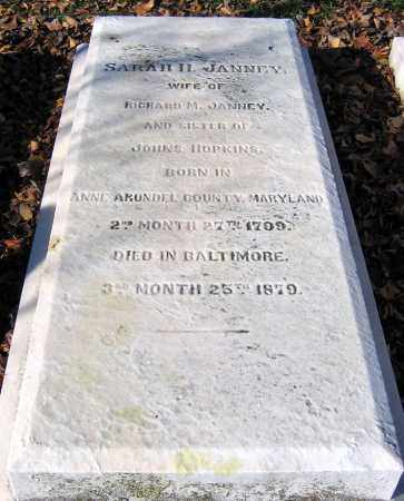 HOPKINS JANNEY, SARAH H. - Baltimore City County, Maryland | SARAH H. HOPKINS JANNEY - Maryland Gravestone Photos