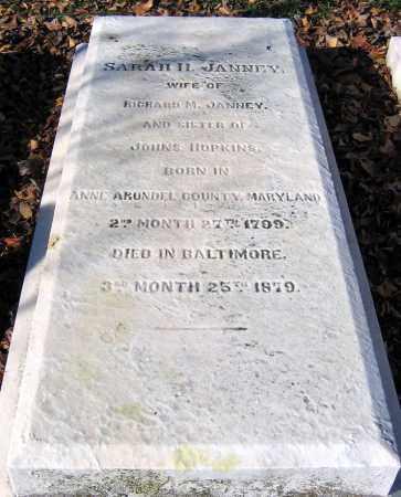 HOPKINS JANNEY, SARAH H. - Baltimore City County, Maryland   SARAH H. HOPKINS JANNEY - Maryland Gravestone Photos