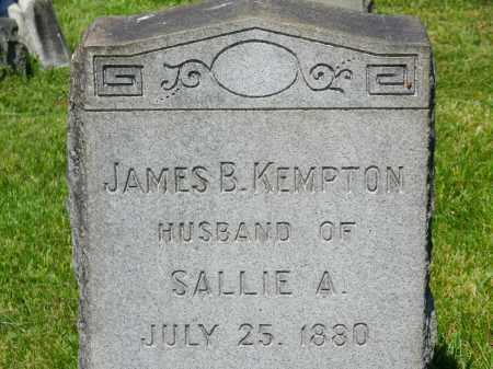 KEMPTON, JAMES B. - Baltimore City County, Maryland   JAMES B. KEMPTON - Maryland Gravestone Photos
