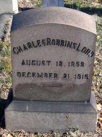 LORD, CHARLES ROBBINS - Baltimore City County, Maryland | CHARLES ROBBINS LORD - Maryland Gravestone Photos