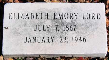 LORD, ELIZABETH EMORY - Baltimore City County, Maryland | ELIZABETH EMORY LORD - Maryland Gravestone Photos