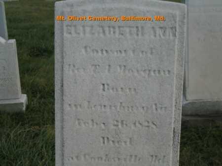MORGAN, ELIZABETH ANN - Baltimore City County, Maryland | ELIZABETH ANN MORGAN - Maryland Gravestone Photos