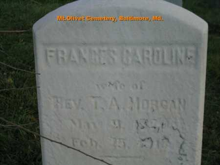 MORGAN, FRANCIS CAROLINE - Baltimore City County, Maryland | FRANCIS CAROLINE MORGAN - Maryland Gravestone Photos