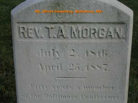 MORGAN, T.A. - Baltimore City County, Maryland | T.A. MORGAN - Maryland Gravestone Photos