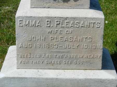 PLEASANTS, EMMA - Baltimore City County, Maryland   EMMA PLEASANTS - Maryland Gravestone Photos