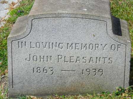 PLEASANTS, JOHN - Baltimore City County, Maryland | JOHN PLEASANTS - Maryland Gravestone Photos