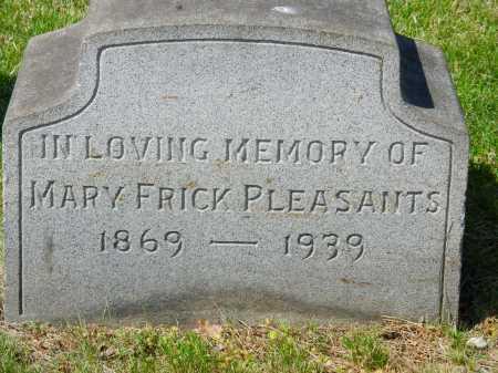 PLEASANTS, MARY - Baltimore City County, Maryland | MARY PLEASANTS - Maryland Gravestone Photos