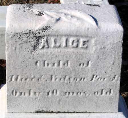 POE, ALICE - Baltimore City County, Maryland | ALICE POE - Maryland Gravestone Photos
