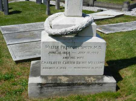SMITH, CHARLOTTE CARTER RICHIE WILLIAMS - Baltimore City County, Maryland | CHARLOTTE CARTER RICHIE WILLIAMS SMITH - Maryland Gravestone Photos