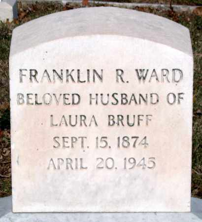 WARD, FRANKLIN R. - Baltimore City County, Maryland | FRANKLIN R. WARD - Maryland Gravestone Photos
