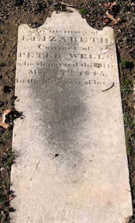 WELLS, ELIZABETH - Baltimore City County, Maryland   ELIZABETH WELLS - Maryland Gravestone Photos