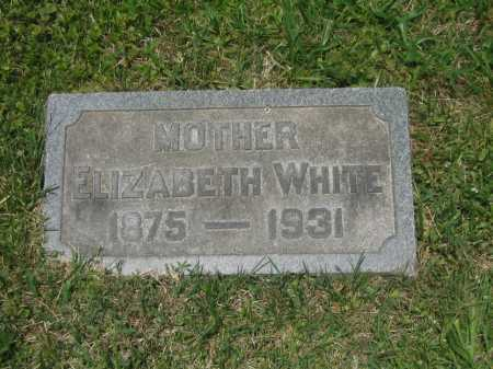 WHITE, ELIZABETH - Baltimore City County, Maryland | ELIZABETH WHITE - Maryland Gravestone Photos