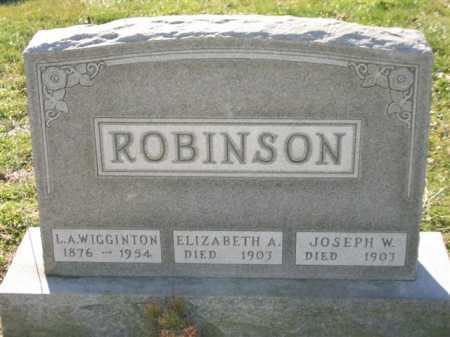 ROBINSON, ELIZABETH ANN - Baltimore City County, Maryland | ELIZABETH ANN ROBINSON - Maryland Gravestone Photos