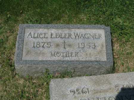 WAGNER, ALICE - Baltimore County, Maryland | ALICE WAGNER - Maryland Gravestone Photos