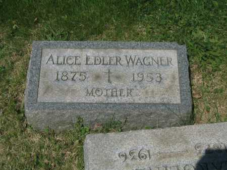 EDLER WAGNER, ALICE - Baltimore County, Maryland | ALICE EDLER WAGNER - Maryland Gravestone Photos