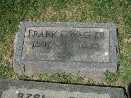 WAGNER, FRANK E. - Baltimore County, Maryland | FRANK E. WAGNER - Maryland Gravestone Photos