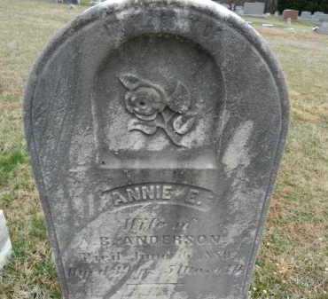 ANDERSON, ANNIE E. - Baltimore County, Maryland | ANNIE E. ANDERSON - Maryland Gravestone Photos