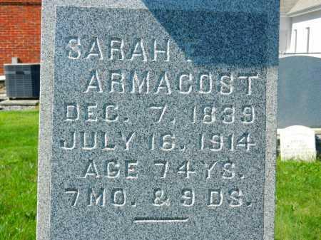 ARMACOST, SARAH - Baltimore County, Maryland | SARAH ARMACOST - Maryland Gravestone Photos